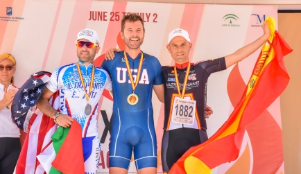 Coach Nate Dunn takes the win in the 2017 World Transplant Games Road Race